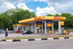 Rosneft-Tankstelle Rosneft ist eins des größten russischen Öls c Lizenzfreie Stockfotos