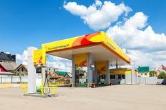 Rosneft-Tankstelle am Sommertag Rosneft ist eins von den größten Lizenzfreie Stockfotografie