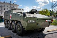 Rosomak en tant que véhicule médical d'évacuation Photo stock