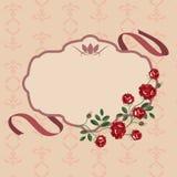 Rosor blommar ramvektorn royaltyfri foto