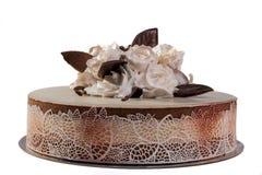 Rosor på kakan royaltyfri bild