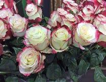 Rosor som är till salu i blommamarknad moscow russia royaltyfri fotografi