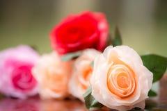 Rosor som göras av tyg Royaltyfri Foto