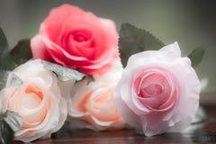 Rosor som göras av tyg royaltyfria bilder