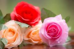Rosor som göras av tyg royaltyfri fotografi