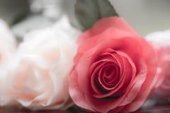 Rosor som göras av tyg arkivbilder