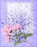 Rosor vattenfärg Royaltyfria Bilder