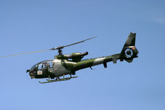 Aérospatiale Gazelle is a five-seat light helicopter Royalty Free Stock Images