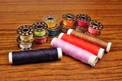 Rosqueie uma máquina de costura Imagem de Stock