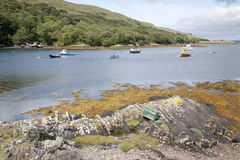 Rosroe Harbor, Killary Fjord, Connemara National Park, County Ga Stock Image