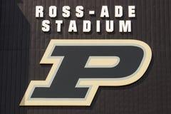 Ross-Ade Stadium bij Purdue-Universiteit Een lid van Grote Tien, Purdue-gastherenteams van midwesten I stock fotografie