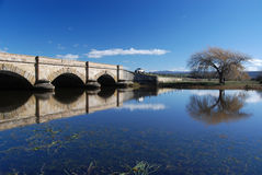 Ross Bridge. Located in the historic town of Ross, the Ross Bridge was constructed by convicts in 1836 and is the third oldest bridge still standing in Australia Royalty Free Stock Photos