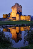 Ross Castle, Cork, Ireland. Reflection of Ross Castle at twilight in Cork, Ireland Stock Image