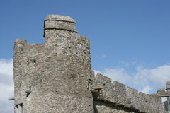 Ross castle detail. Tower of old medieval castle in kerry county, ireland Royalty Free Stock Photography