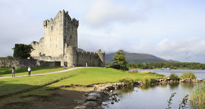 Ross Castle on the island and Lough Leane. Stock Image