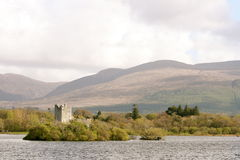 Ross castle in kerry mountains, killarney, ireland. Old medieval castle in kerry county Stock Image