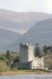 Ross castle in kerry mountains, killarney, ireland. Old medieval castle in kerry county Royalty Free Stock Images