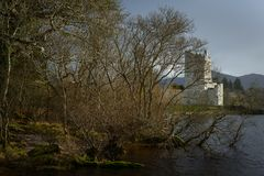 Castle at lakeshore. Ross Castle in Killarney National Park,Kerry,Ireland Royalty Free Stock Images