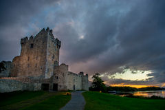 Ross Castle at Lough Leane in Ireland Stock Images