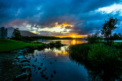 Ross Castle at Lough Leane in Ireland Stock Photos