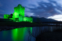 Ross castle at night. Killarney. Ireland. Ross Castle in Killarney. Ancestral home of the ODonoghue clan , was built in the 15th century. County Kerry. Ireland Stock Image