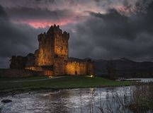 Ross Castle at night. Stock Images