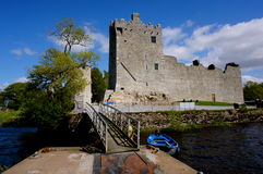 Ross castle pier in killarney. Ross castle in killarney ireland Stock Image