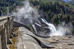 Ross Dam. Maintenance taking place on Ross Dam wall stock image