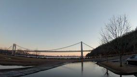 Ross Dock Area GW Bridge. Shot in 4k 60FPS stock footage