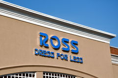 Ross Dress for Less sign. Falls Church, VA, USA - August 19, 2011:  Ross Dress for Less sign.  Ross Stores, Inc. (NASDAQ: ROST) is a chain of American off-price Royalty Free Stock Images