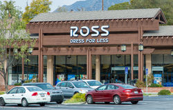 Ross Dress for Less Store Exterior. LA CRESCENTA, CA/USA - JANUARY 9, 2016: Ross Dress For Less store exterior. Ross Stores, Inc., is an American chain of off Royalty Free Stock Images
