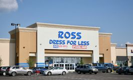 Ross Dress For Less. Ross Stores is an American chain of `off-price`, deeply discounted department stores Stock Photos