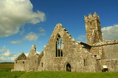 Ross Errilly Friary Abbey Stock Afbeeldingen