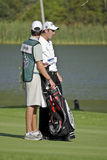 Ross Fisher & Caddy, on the 17th Fairway - NGC2009 Royalty Free Stock Photography