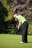 Ross Fisher  - Putting In. Ross Fisher putting in from the centre of the 18th green Royalty Free Stock Image