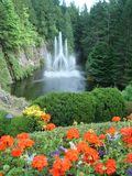 Ross Fountain Buchart Gardens Victoria BC Stock Afbeeldingen