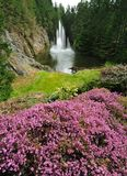 Ross fountain in butchart gardens Royalty Free Stock Photography