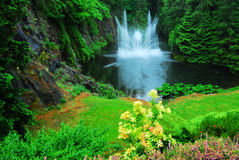 Ross fountain in butchart gardens Stock Photography