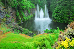 Ross fountain in butchart gardens Stock Image