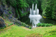 Ross fountain in butchart gardens Royalty Free Stock Photos