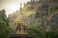 Ross fountain, dark and moody Royalty Free Stock Photo