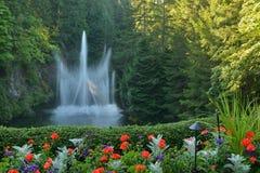 Ross Fountain i sjunken trädgård Arkivfoto