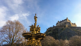 Ross fountain landmark in Pinces Street Gardens. Edinburgh Royalty Free Stock Images