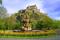 Ross fountain landmark in Edinburgh, Scotland Royalty Free Stock Photo