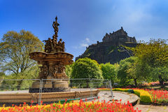 Ross fountain landmark in Pincess Street Gardens Stock Image