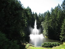 Ross Fountain på Butchart trädgårdar Arkivfoto