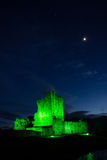 Ross kasztel przy nocą. Killarney. Irlandia Obrazy Royalty Free