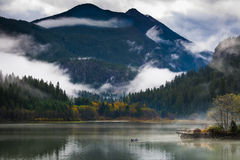 Ross Lake in Autumn stock images