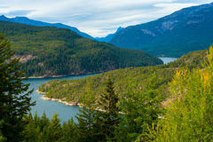Ross Lake. In North Cascade National Park, Washington stock image