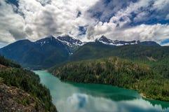 Ross Lake, Washington State. Ross Lake from Cascade Mountain Loop, Washington State stock images